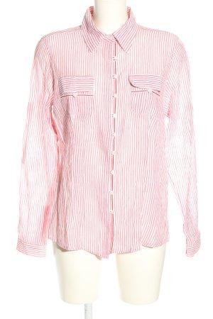 OVS Langarm-Bluse pink-weiß Streifenmuster Casual-Look