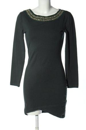 OVS Shirtkleid schwarz-goldfarben Casual-Look