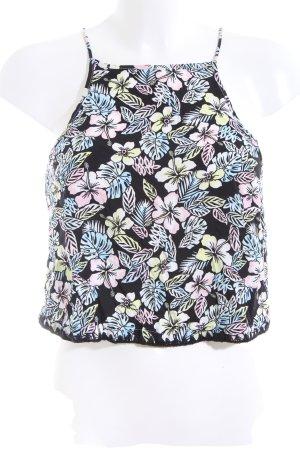 Top con bretelline motivo floreale stile casual