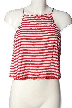 OVS Top de tirantes finos rojo-blanco look casual