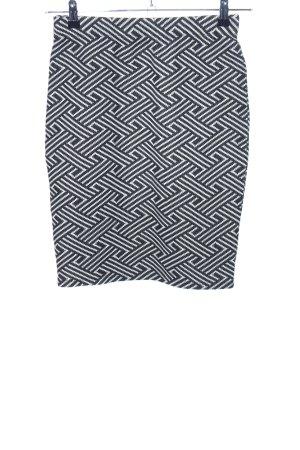OVS Stretchrock schwarz-weiß grafisches Muster Business-Look
