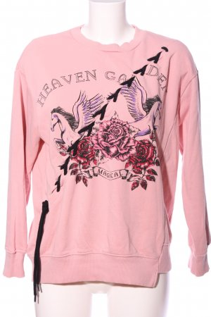 OVS Sweatshirt pink Allover-Druck Casual-Look
