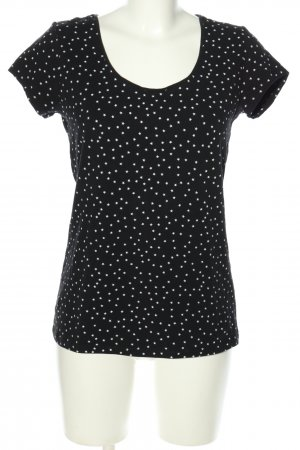 OVS T-Shirt schwarz-weiß Allover-Druck Casual-Look