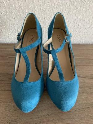 OVS Zapatos de tacón con barra en T azul-azul cadete