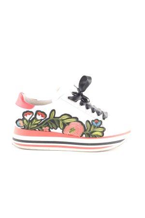 Ovyé Absatz Sneaker Blumenmuster Casual-Look
