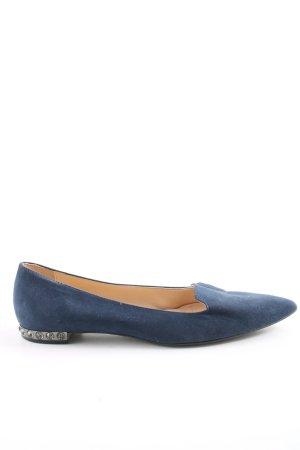 Ovyé Ballerinas mit Spitze blau Elegant