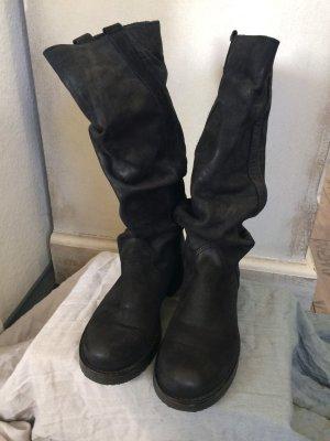 Ovyé Bottes plissées noir
