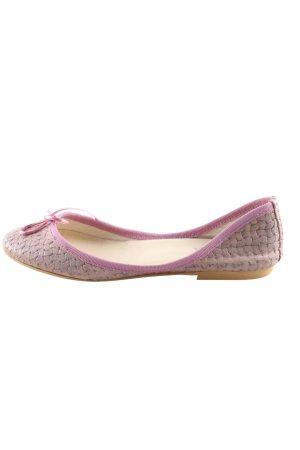 Ovyé faltbare Ballerinas lila-pink Casual-Look