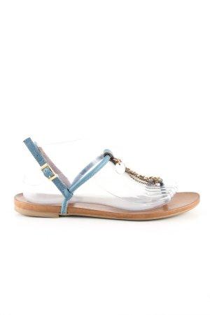 Ovyé Flip Flop Sandalen braun-blau Casual-Look