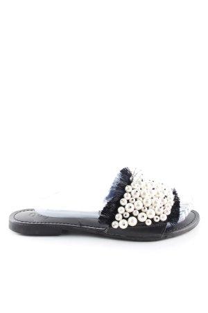 Ovyé Komfort-Sandalen schwarz-wollweiß Casual-Look