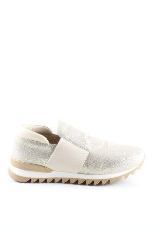 Ovyé Schlüpfsneaker silberfarben-weiß Glanz-Optik