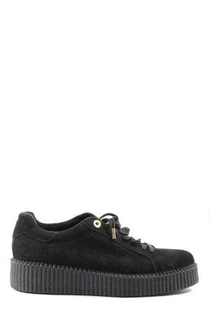 Ovyé Sneakers met veters zwart casual uitstraling