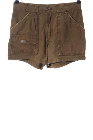 Oxbow Pantalón corto de talle alto marrón look casual