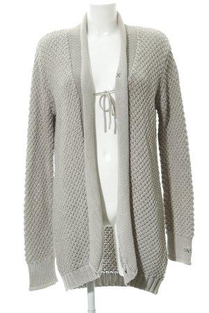 Oxbow Strick Cardigan graubraun schlichter Stil