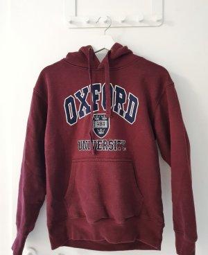 oxford Top à capuche rouge carmin-bordeau