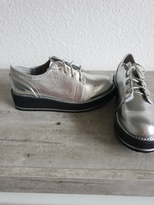 Wingtip Shoes silver-colored