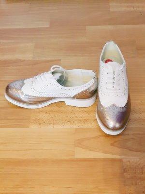 Zapatos estilo Oxford blanco