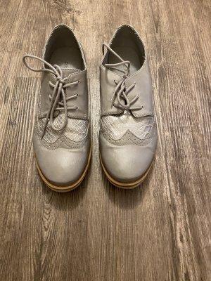 Oxford Schuhe grau glänzend Business Casual