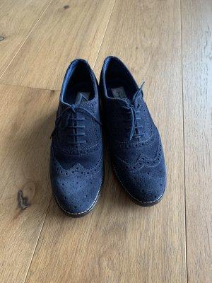 Giorgio Venuti Zapatos estilo Oxford azul oscuro