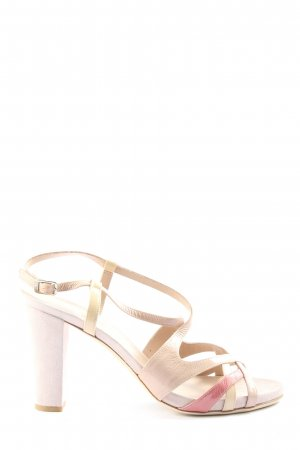 Oxitaly High Heel Sandaletten creme-pink Casual-Look