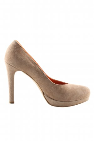 Oxitaly Plateau-Pumps creme Casual-Look