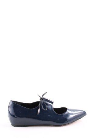 Oxitaly Schnürschuhe blau Business-Look