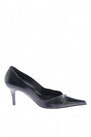 Oxitaly Spitz-Pumps schwarz Casual-Look