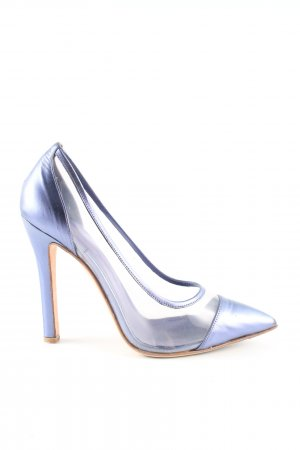 Oxitaly Spitz-Pumps blau Elegant