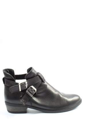 Oxmox Stivaletto cut out nero stile casual