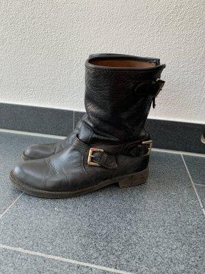 Oxmox Leder Stiefeletten schwarz Gr. 38