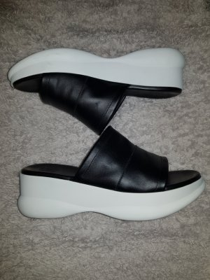Oxmox Heel Pantolettes white-black