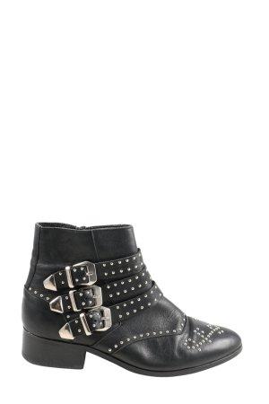 Oxmox Reißverschluss-Stiefeletten schwarz Casual-Look