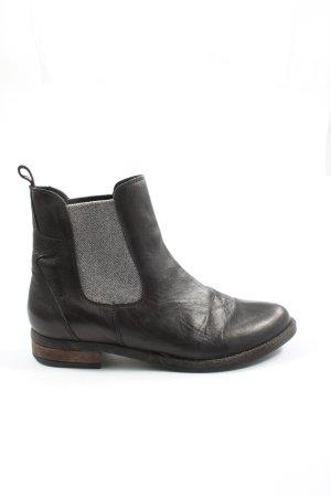 Oxmox Schlüpf-Stiefeletten schwarz Casual-Look