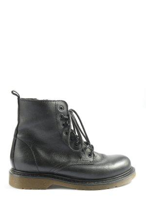 Oxmox Bottines à lacets noir style décontracté