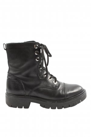 Oxmox Lace-up Booties black casual look
