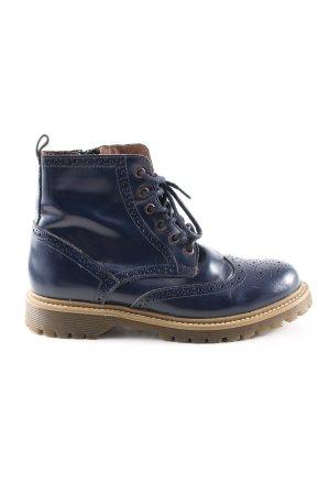 Oxmox Schnürschuhe blau Casual-Look