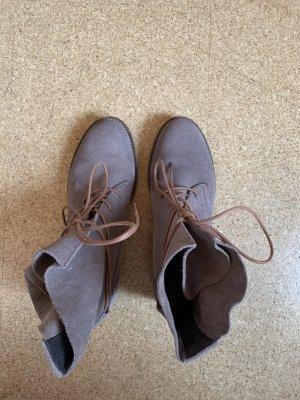 Oxmox Bottes à lacets beige-marron clair