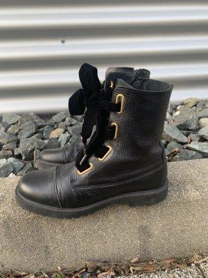 Oxmox Stiefel schwarz gold gr 40