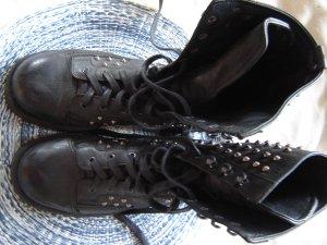O.X.S Botte gothique noir cuir
