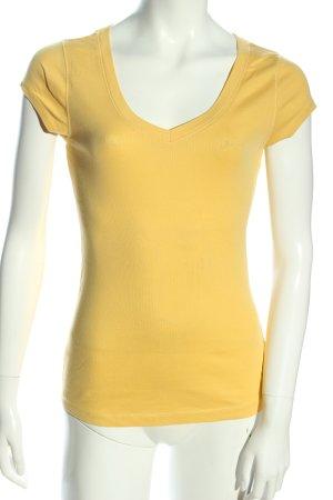 OXXO V-Ausschnitt-Shirt blassgelb Casual-Look