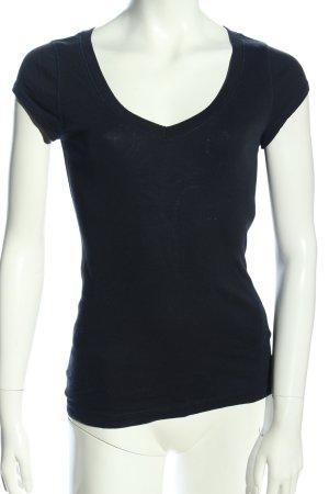 OXXO V-Ausschnitt-Shirt schwarz Casual-Look