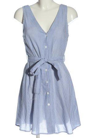 Oysho A-Linien Kleid weiß-blau Allover-Druck Casual-Look