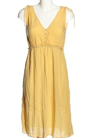 Oysho Abito linea A giallo pallido stile casual