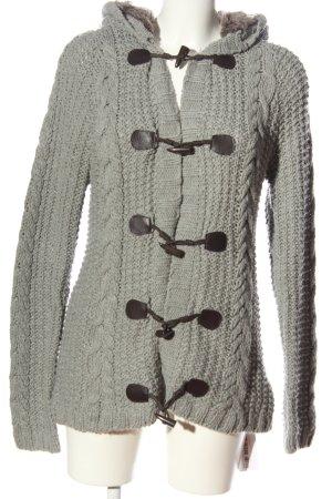 Oysho Cardigan grigio chiaro punto treccia stile casual