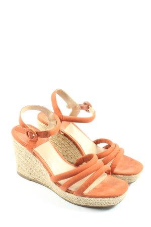 Oysho Espadrille orange clair style décontracté