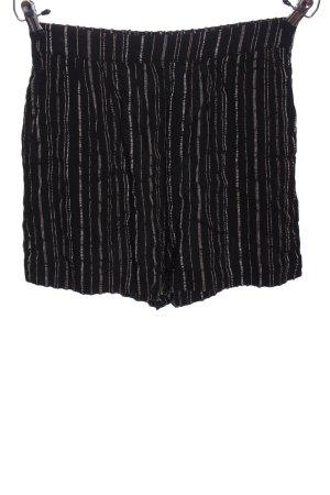 Oysho Hot pants nero-bianco motivo a righe stile casual