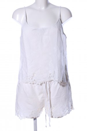 Oysho Twin Set tipo suéter white flower pattern casual look