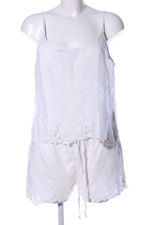 Oysho Jersey twin set wit bloemenprint casual uitstraling