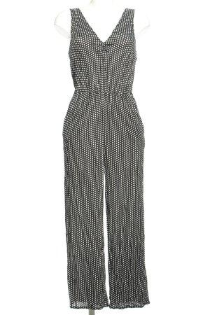 Oysho Jumpsuit schwarz-weiß Allover-Druck Casual-Look