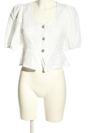 Oysho Camicetta a maniche corte bianco stile professionale
